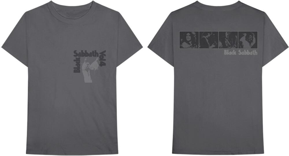 Black Sabbath - Black Sabbath Volume 4 Hands Up Grey Unisex Short Sleeve T-shirt 2XL