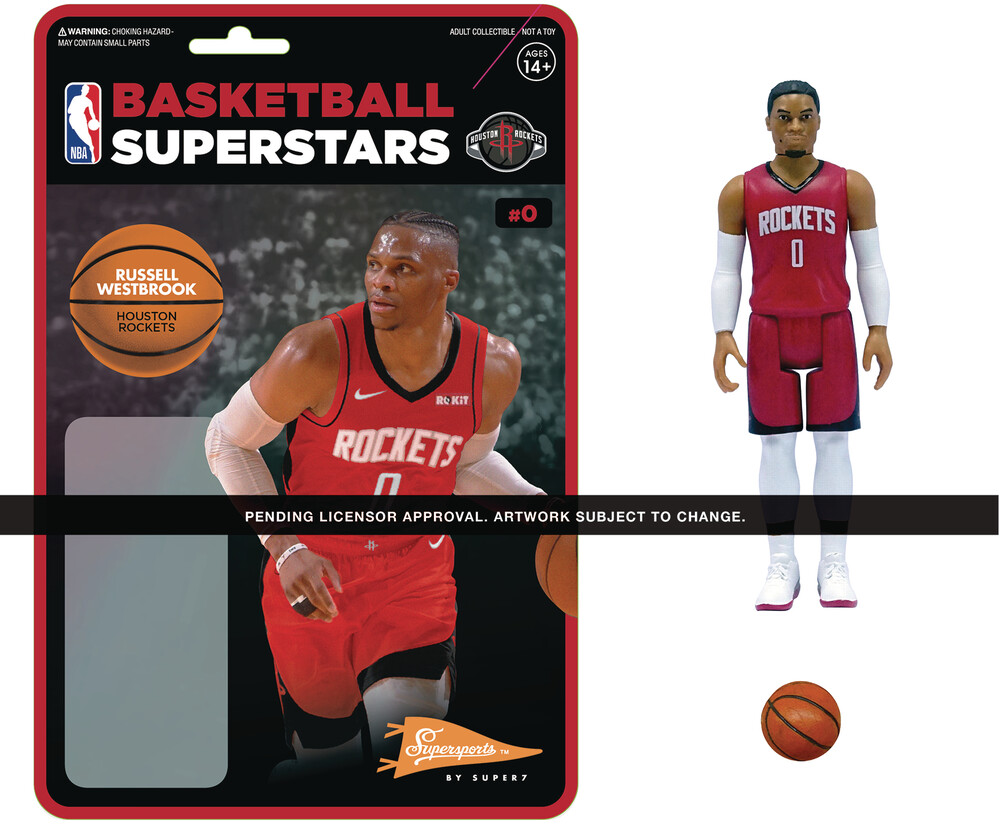 NBA Reaction Figure - Russell Westbrook (Rockets) - Nba Reaction Figure - Russell Westbrook (Rockets)