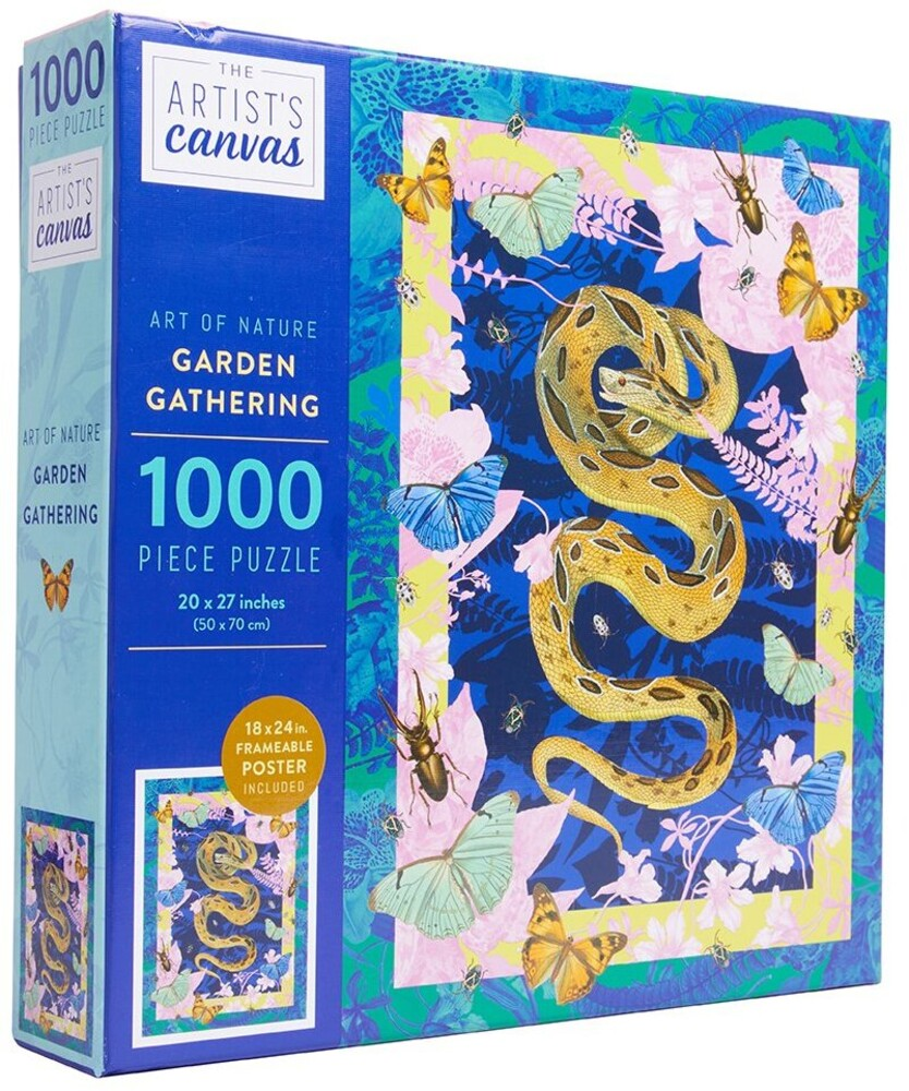 InSights - Jigsaw Puzzle Art of Nature: Garden Gathering, 1,000 Pieces, 20 x 27 -with Bonus Poster