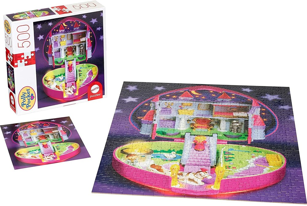 - Mattel Games - Polly Pocket Playset 500 Piece Puzzle