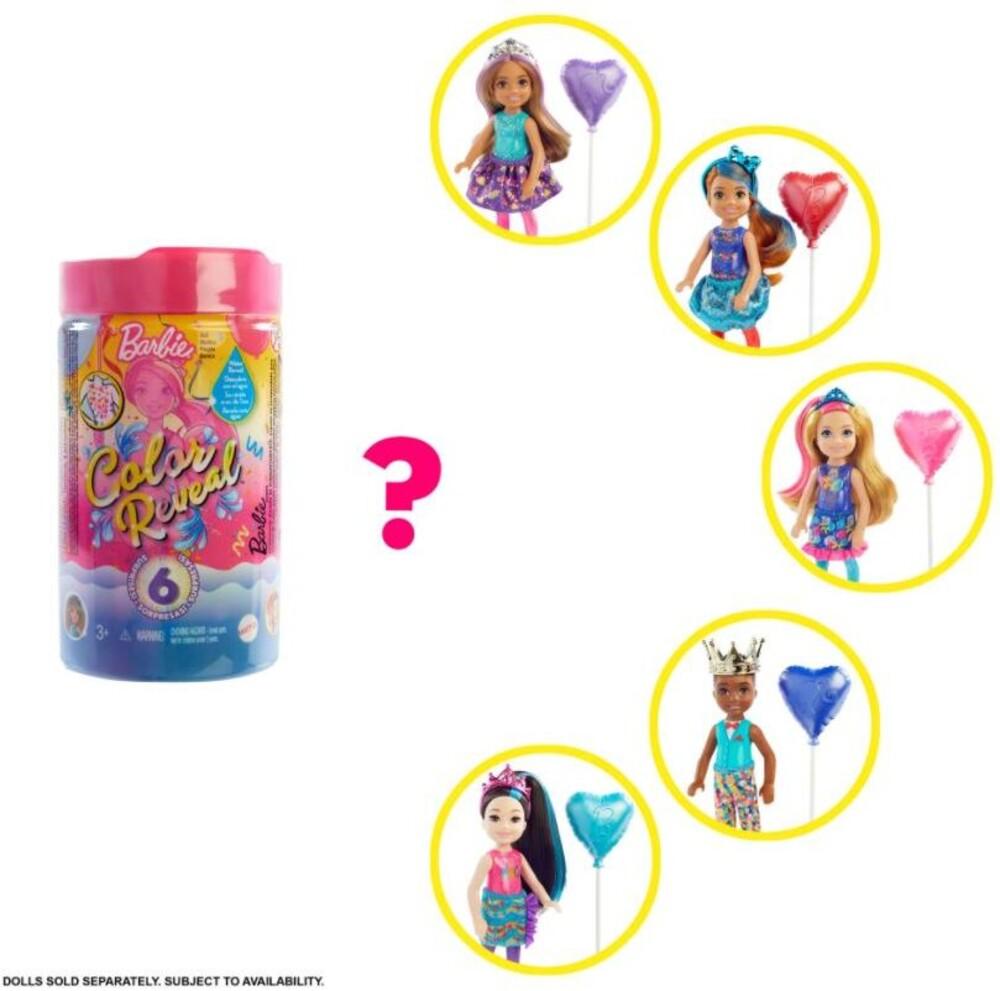 Barbie - Mattel - Barbie Chelsea Color Reveal Doll, One Surprise Color Reveal with Each Transaction