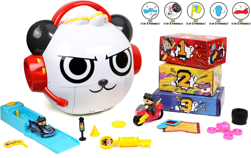 - Ryan's World Combo Panda Mystery Vehicle Playset