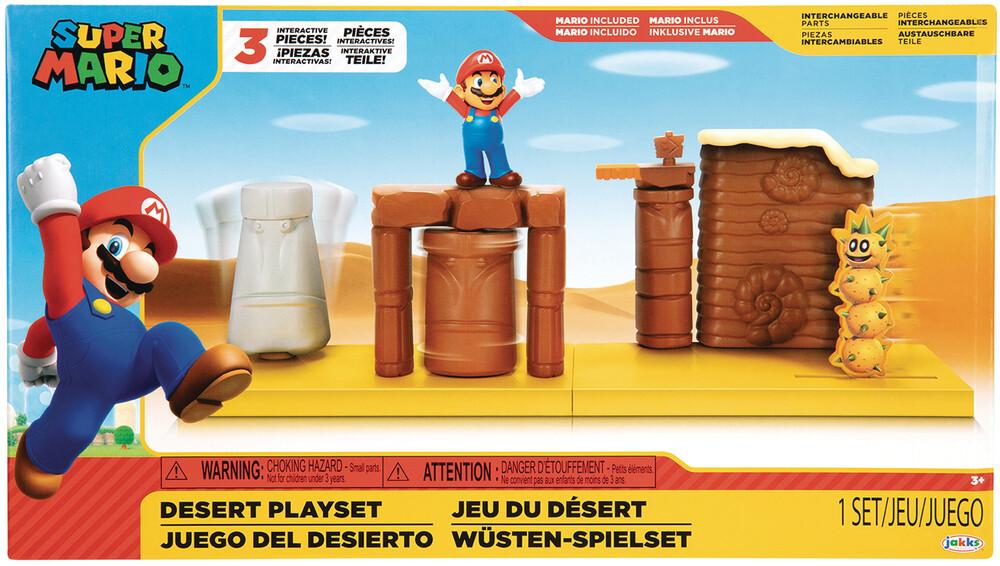 - Nintendo Mario 2-1/2in Desert Playset Cs (Net)