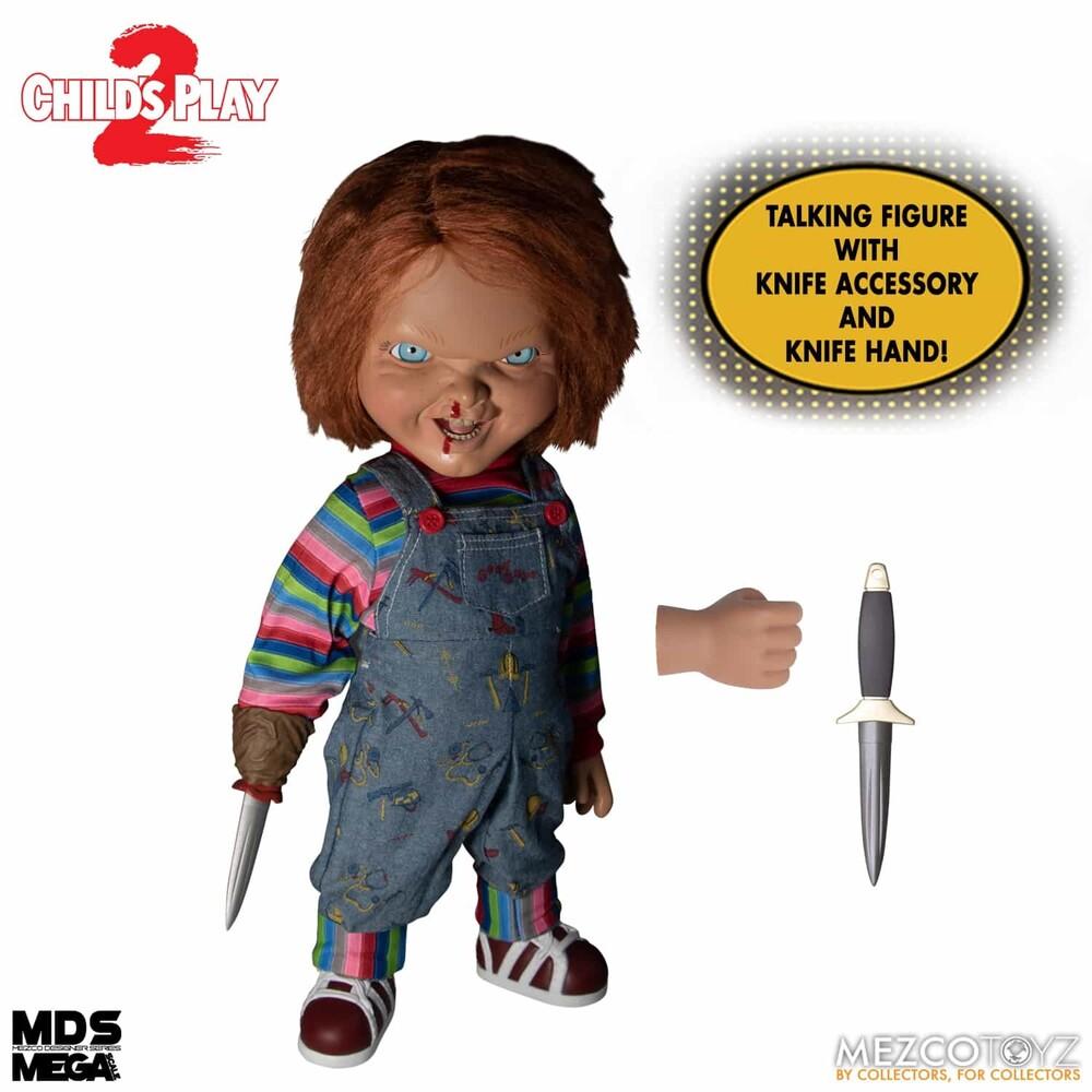 Mds Mega Scale Talking Menacing Chucky - Mezco Designers Series Mega Scale - Child's Play - Talking Menacing Chucky