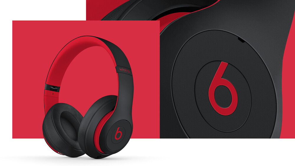Beats Studio3 Bt Over-Ear Headphones Nc Red Black - Beats Studio3 Bluetooth Wireless Over-Ear Headphones The Beats DecadeCollection Active Noise Canceling (Red Defiant Black)