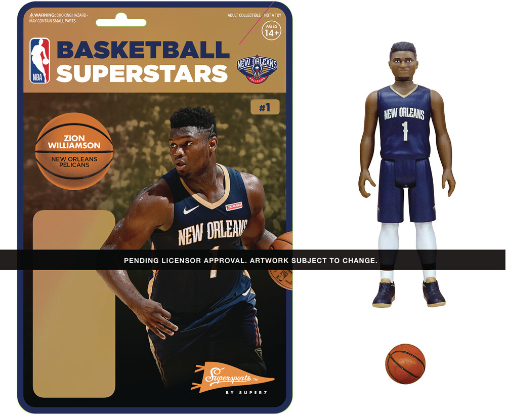 NBA Reaction Figure - Zion Williamson (Pelicans) - Super7 - NBA ReAction Figure - Zion Williamson (Pelicans)