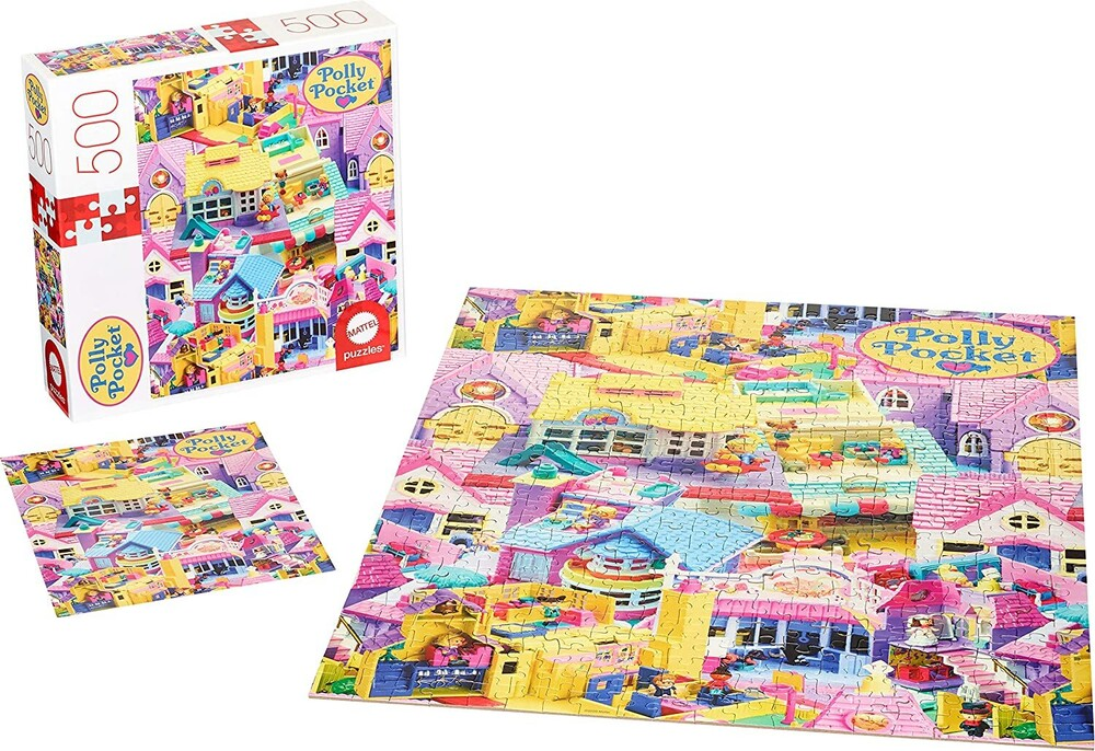 - Mattel Games - Polly Pocket Dollhouse 500 Piece Puzzle