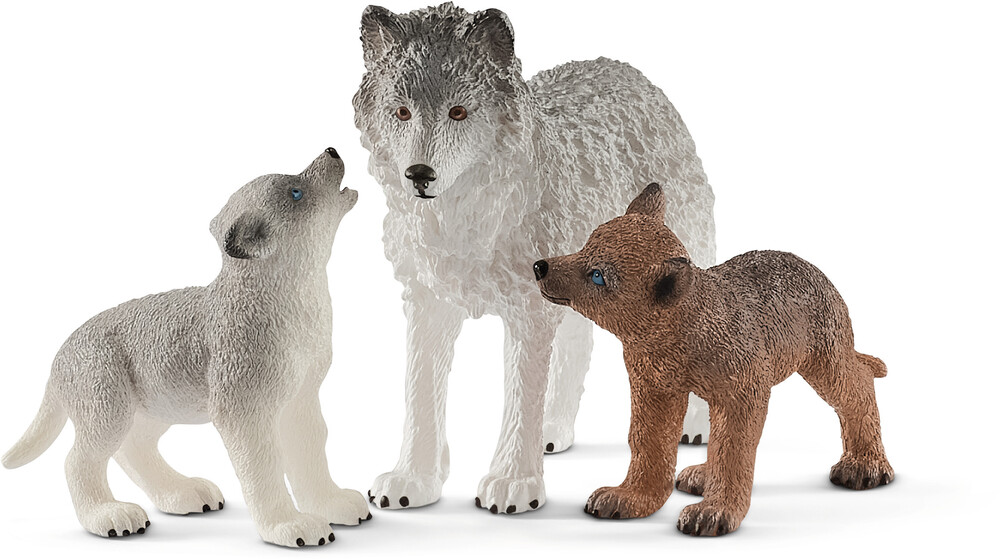 - Schleich Mother Wolf With Pups (Fig)