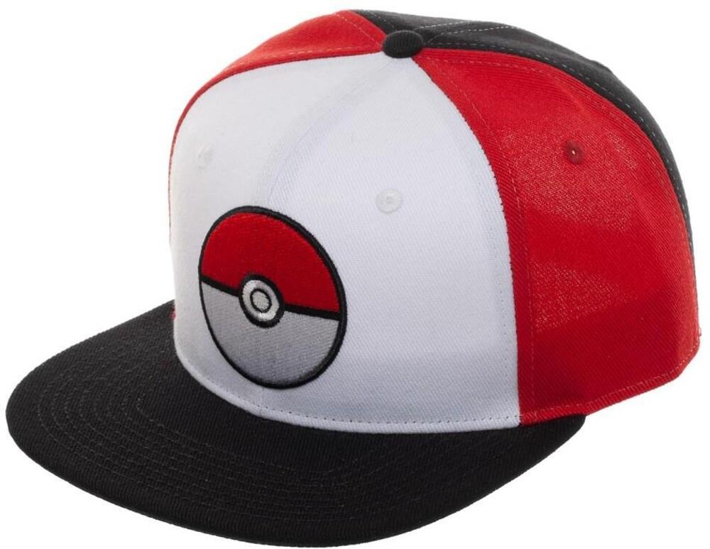Nintendo Pokemon Pokeball Colorblock Sb Bb Cap - Nintendo Pokemon Pokeball Colorblock Sb Bb Cap