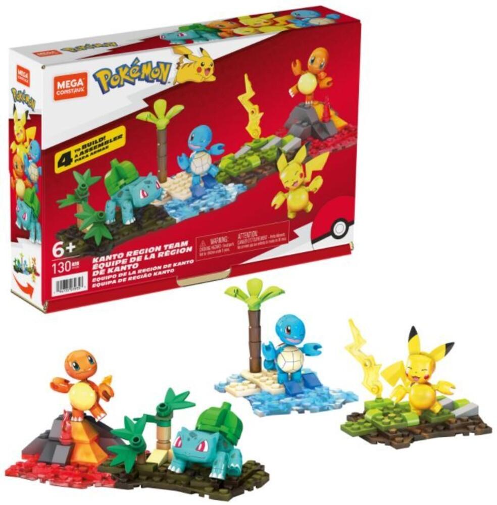Mega Brands Pokemon - Pokemon Kanto Region Team (Fig) (Brik)