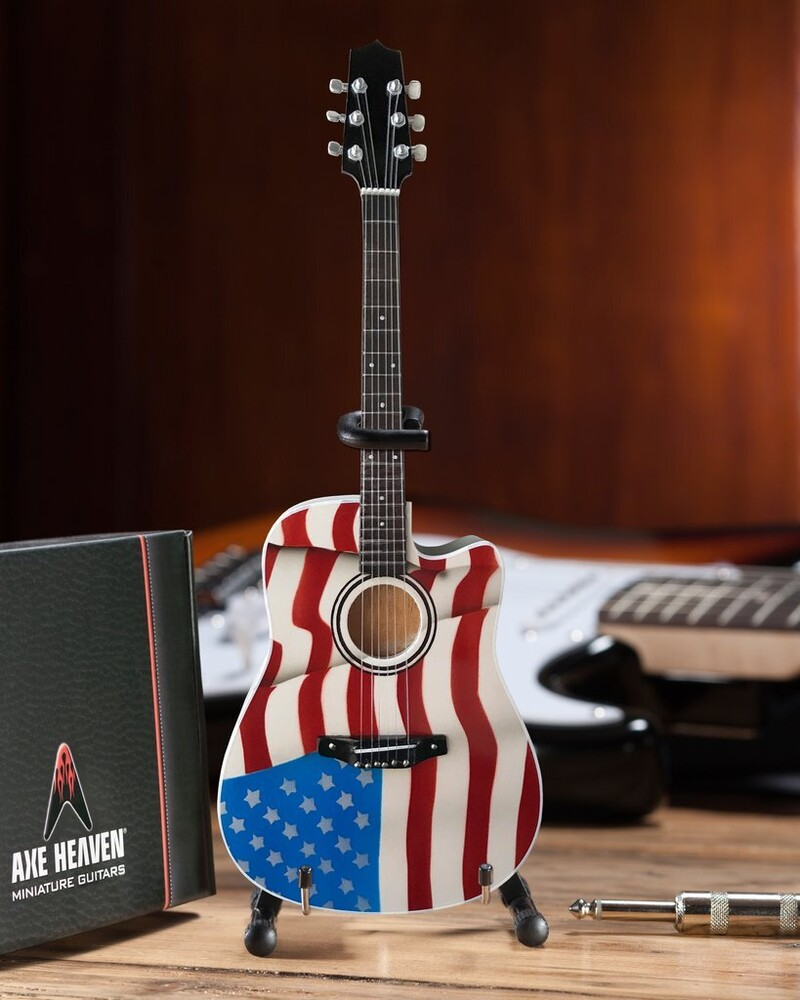Toby Keith Signature Usa Flag Acoustic Mini Guitar - Toby Keith Signature Usa Flag Acoustic Mini Guitar