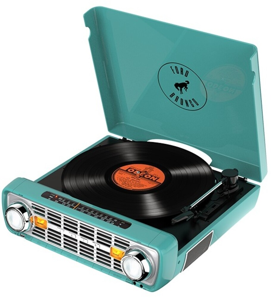 Ion It100Tl Bronco LP 4 in 1 Turntable Radio Teal - ION IT100TL Bronco LP 4 IN 1 Retro Turntable Radio Music Center Teal