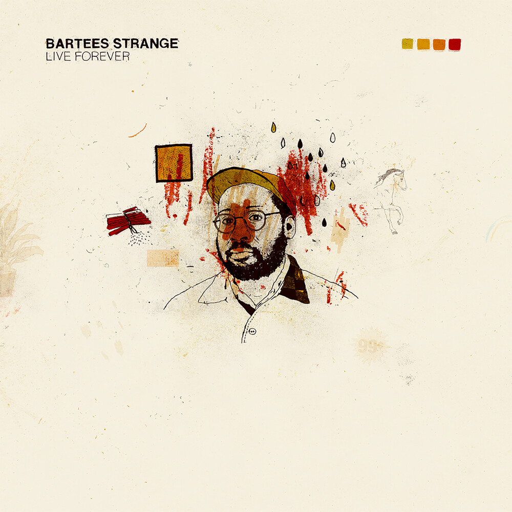 Bartees Strange - Live Forever (Gold & Red Swirl) (Gol) (Red)