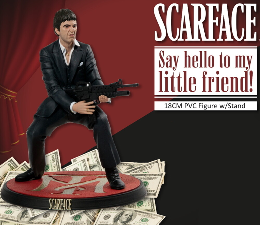 Scarface Say Hello to My Little Friend Vinyl Fig - Scarface Tony Montana Say Hello To My Little Friend 18 CM / 7.9 InchPVC Vinyl Figure W/Stand
