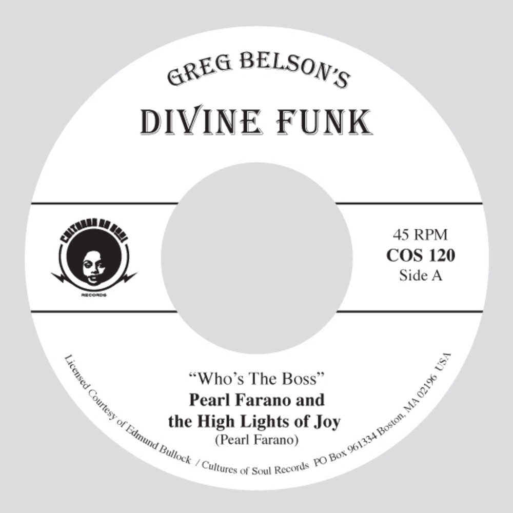 Pearl Farano  & High Lights Of Joy / Jackson,Zela - Who's The Boss / Days Are Just Like People