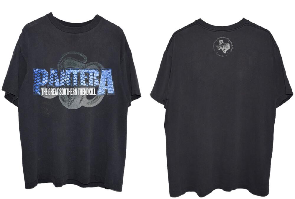 - Pantera Blue Snakeskin Black Ss Tee Large (Blk)