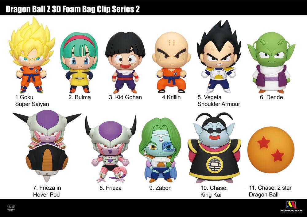 Dragon Ball Z 3D Foam Bag Clip - Series 2 - Dragon Ball Z 3d Foam Bag Clip - Series 2 (Key)