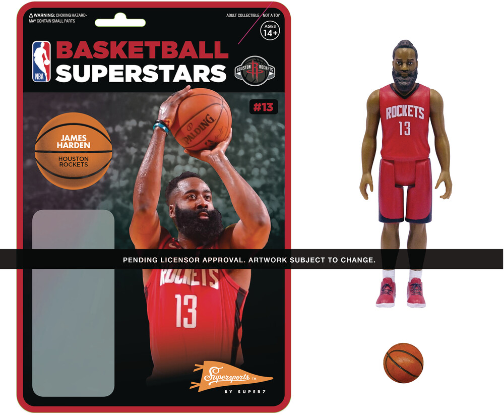 NBA Reaction Figure - James Harden (Rockets) - Super7 - NBA ReAction Figure - James Harden (Rockets)