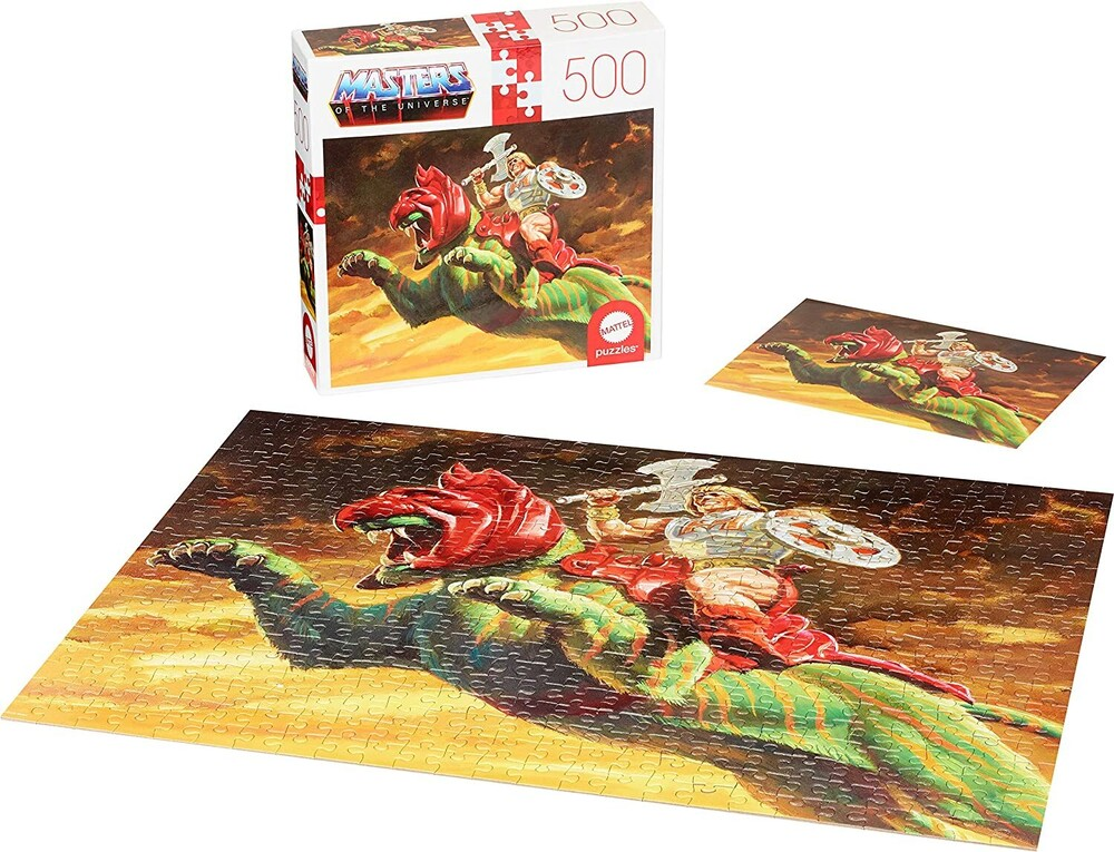 - Mattel Games - Masters of the Universe He-Man & Battel Cat 500 Piece Puzzle (He-Man, MOTU)