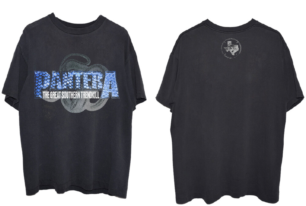 - Pantera Blue Snakeskin Black Ss Tee Xl (Blk) (Xl)