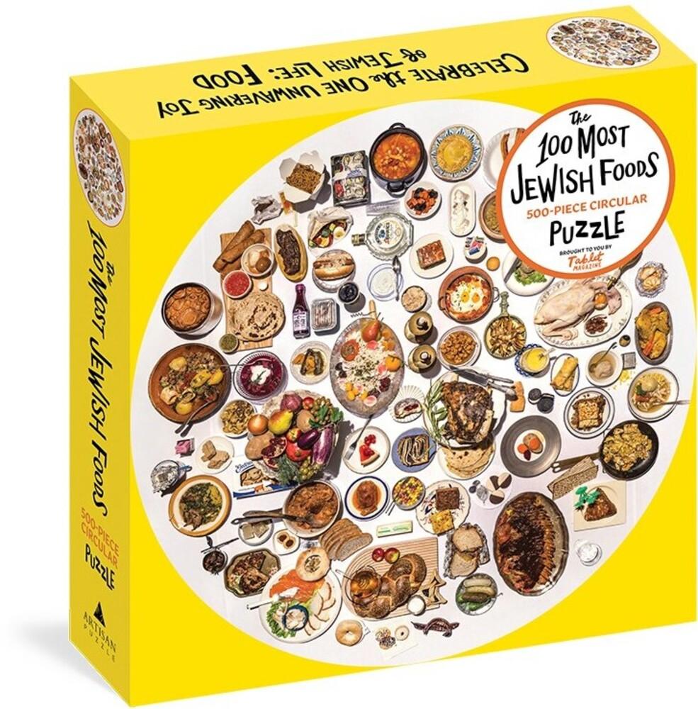 - 100 Most Jewish Foods 500 Piece Circular Puzzle