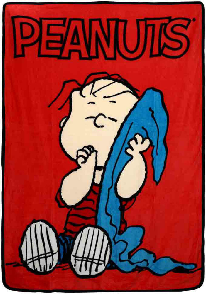 Peanuts Linus Digital Fleece Throw - Peanuts Linus Digital Fleece Throw (Blan) (Mult)