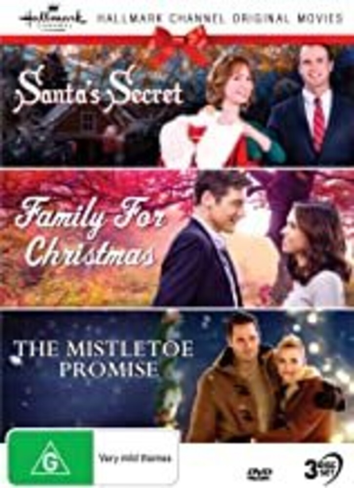 Hallmark Xmas 10: Santa's Secret / Family / Mistle - Hallmark Xmas 10: Santa's Secret (AKA Christmas At Cartwrights) / Family For Christmas / The Mistletoe Promise [NTSC/0]