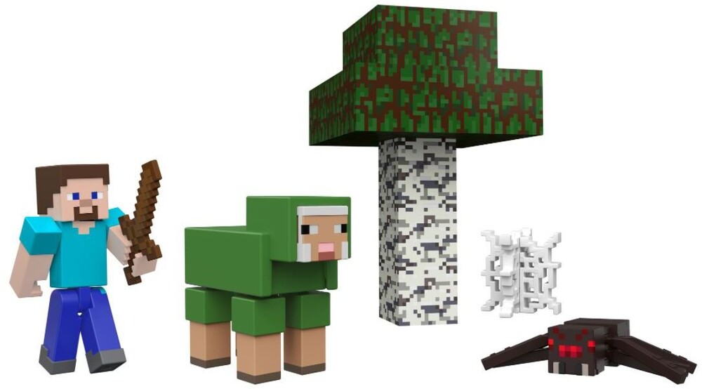 Minecraft - Mattel Collectible - Minecraft 3.25 Noob's First Day Story Pack
