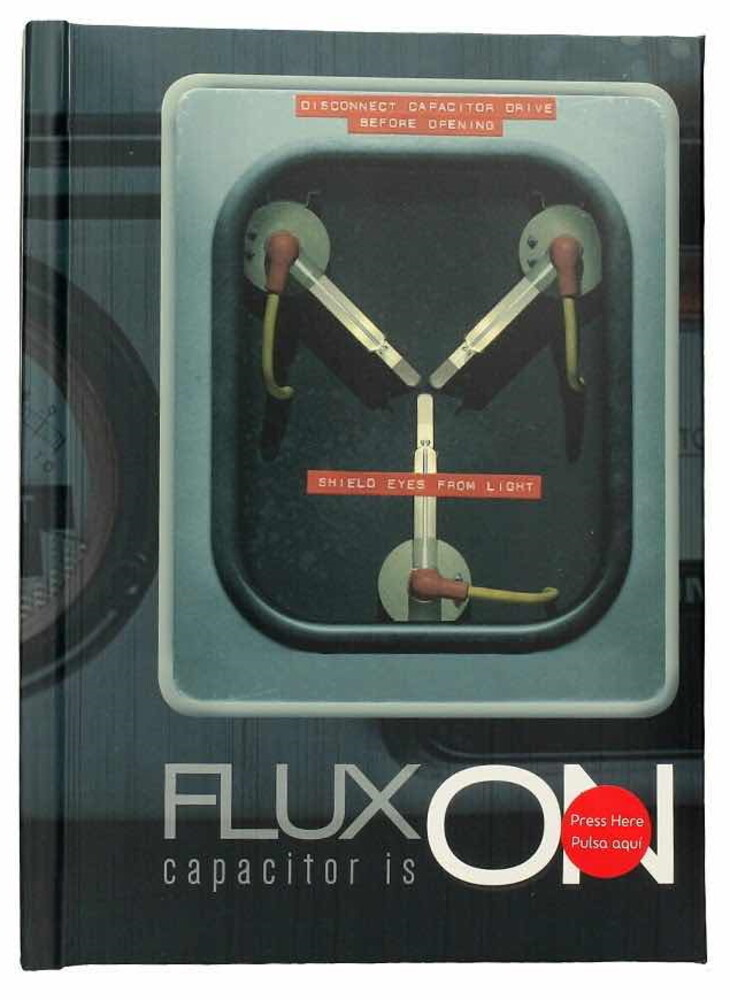 Back to the Future Flux Capacitor Journal W/Light - Back To The Future Flux Capacitor Is On Journal Notebook W/Light