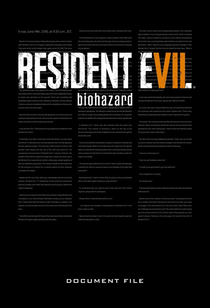 Capcom - Resident Evil 7: Biohazard Document File