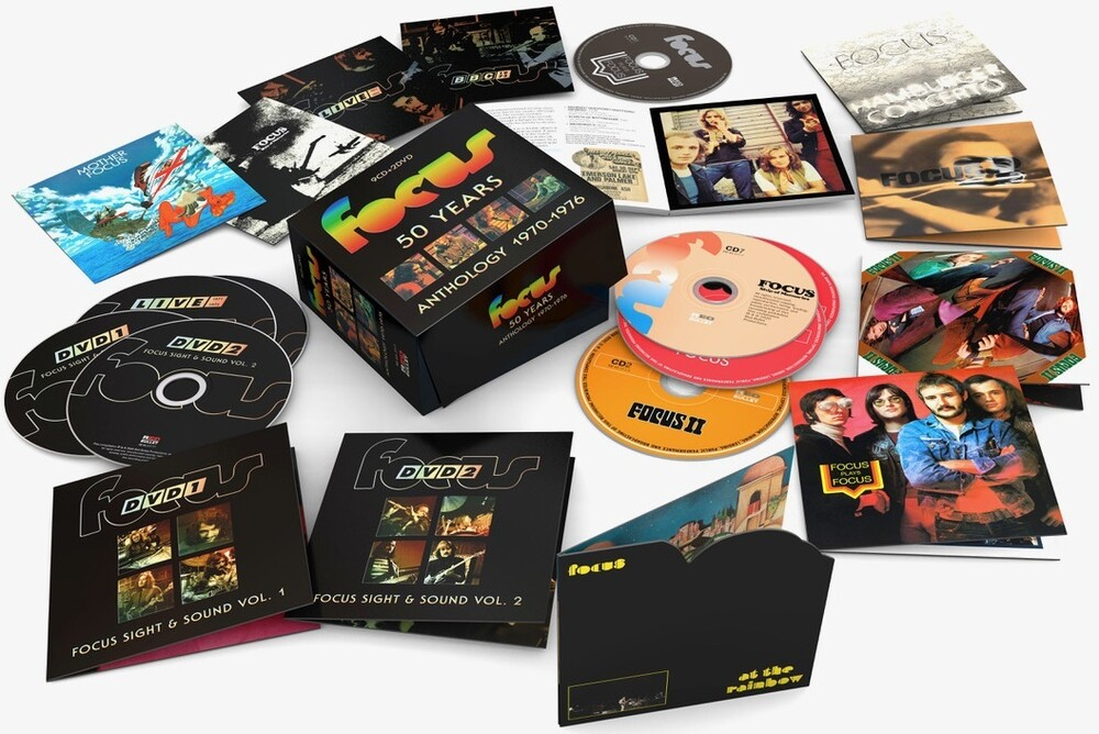 Focus - 50 Years Anthology 1970-1976 (9CD+2DVD PAL Region 0)