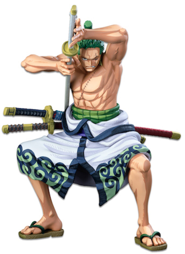 Banpresto - BanPresto - One Piece Banpresto WFC The Roronoa Zoro Two DimensionsFigure