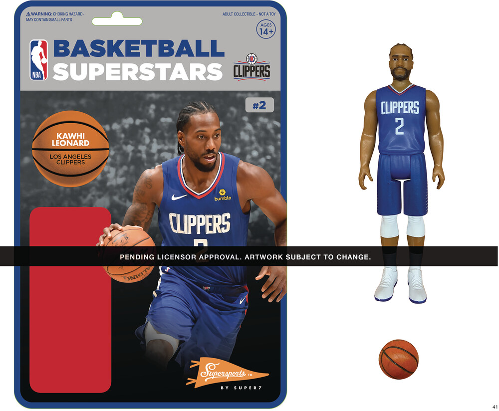 NBA Reaction Figure - Kawhi Leonard (Clippers) - Super7 - NBA ReAction Figure - Kawhi Leonard (Clippers)