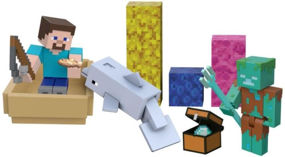 Minecraft - Mattel Collectible - Minecraft 3.25 Treasure Hunt Story Pack