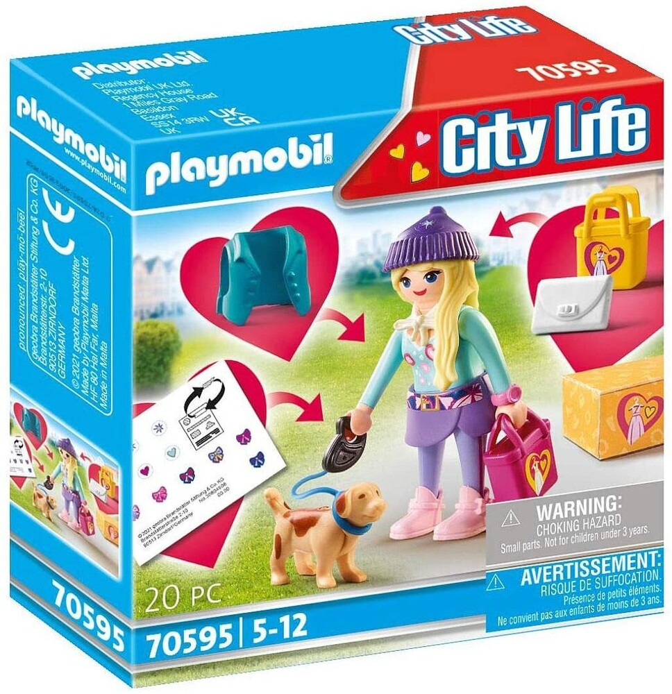 - City Life Fashionista With Dog (Fig)