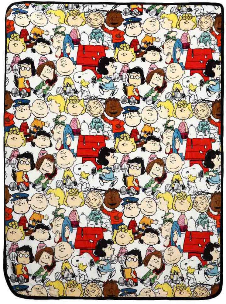 Peanuts Group Digital Fleece Throw - Peanuts Group Digital Fleece Throw (Blan) (Mult)