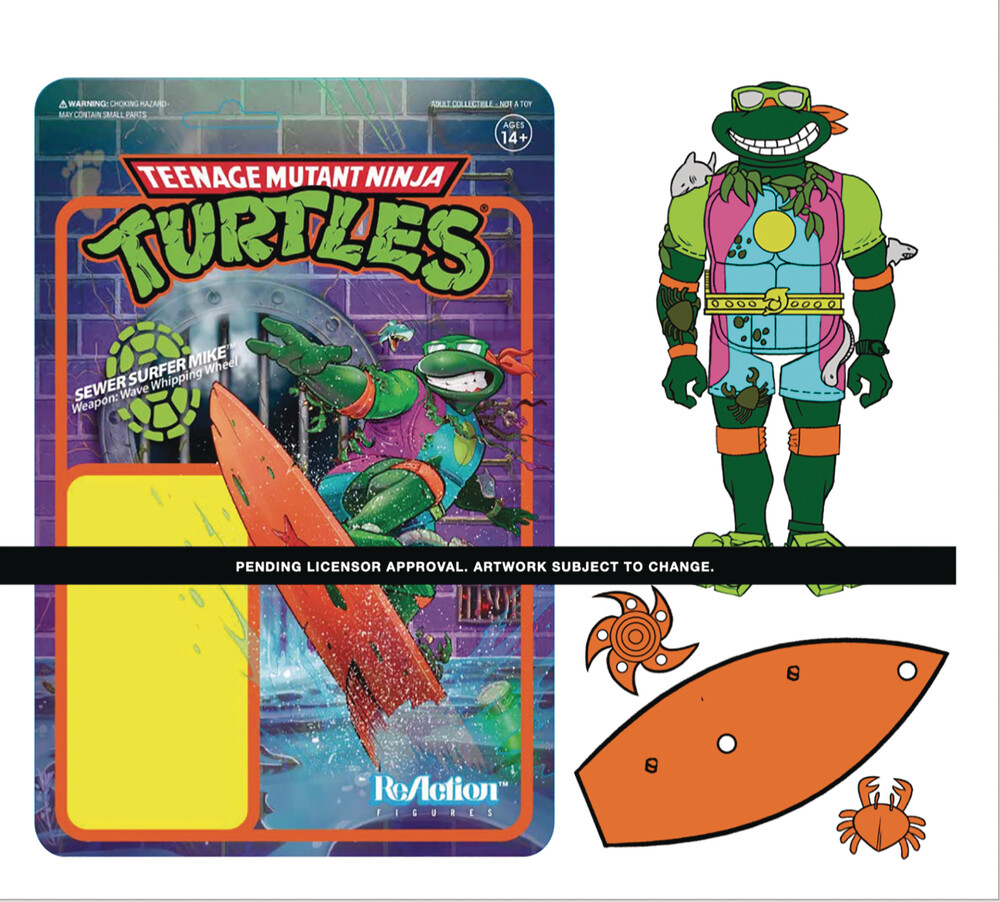 Tmnt Wave 3 - Sewer Surfer Michelangelo - Teenage Mutant Ninja Turtles Wave 3 - Sewer Surfer Michelangelo