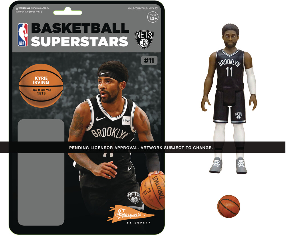 NBA Reaction Figure - Kyrie Irving (Nets) - Super7 - NBA ReAction Figure - Kyrie Irving (Nets)
