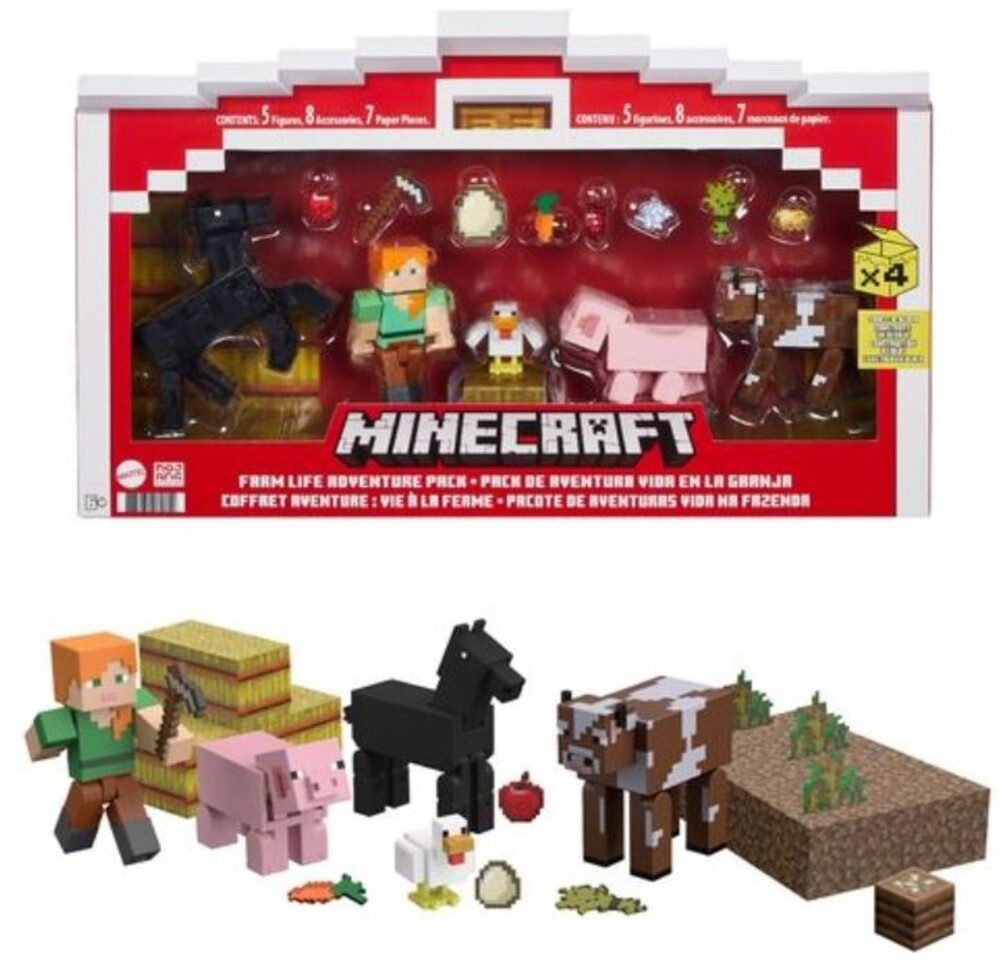 Minecraft - Mattel Collectible - Minecraft 3.25 Life On The Farm Story Pack