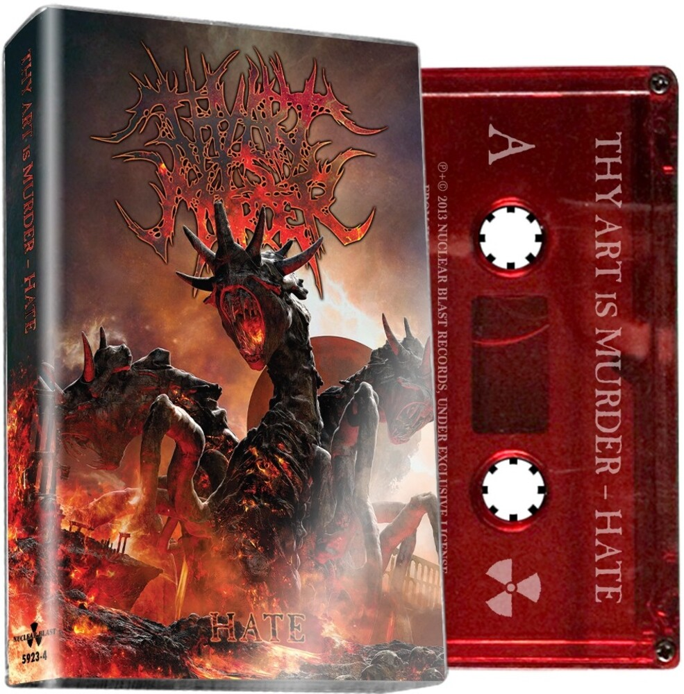 Thy Art Is Murder - Hate (Red Cassette) (Colc) (Red)