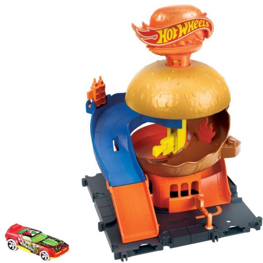 Hot Wheels - Hw City Burger Blitz Playset (Tcar)