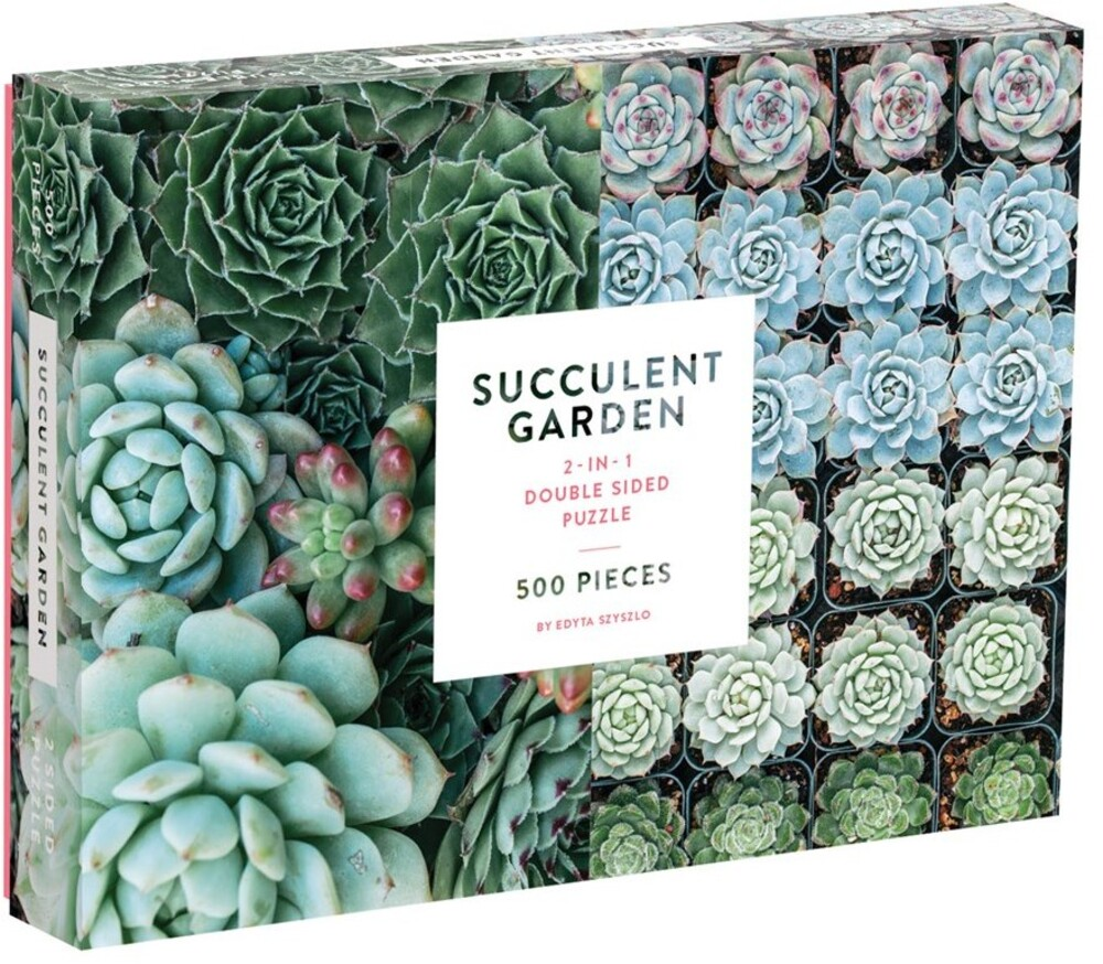 - Succulent Garden 2-sided 500 Piece Puzzle