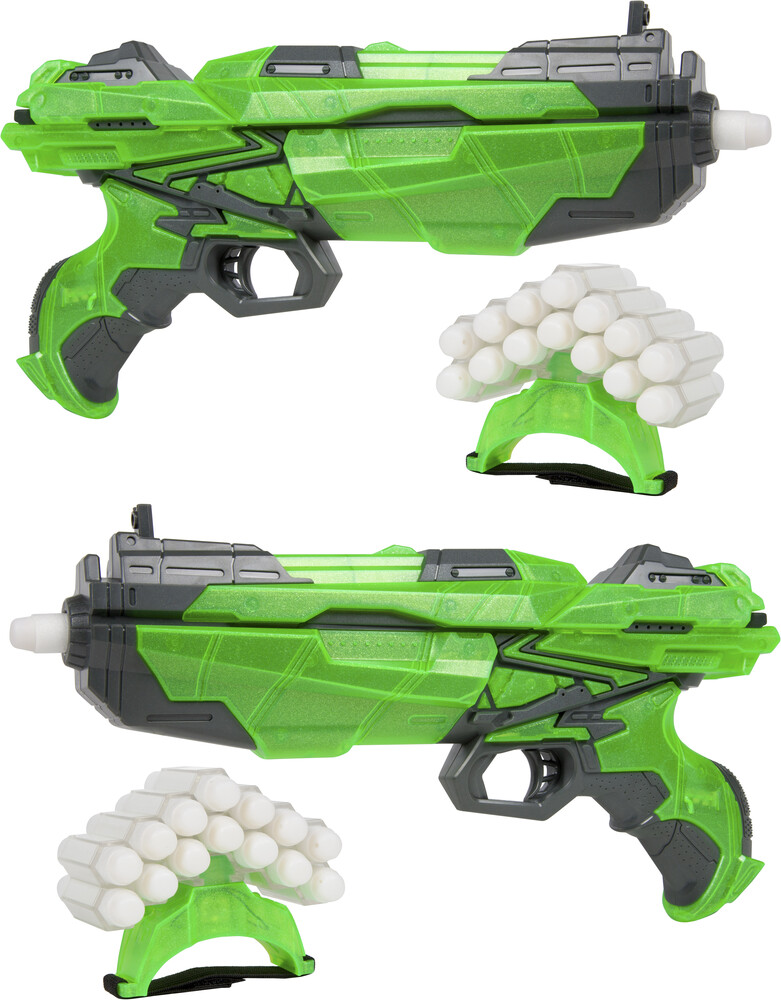 Dart Blasters - World Tech Warrior: Glow in the Dark Havoc Dart Blaster Double Pack