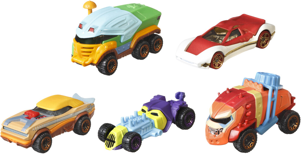 Hot Wheels Masters of the Universe - Mattel - Hot Wheels Masters of the Universe Character Car 5-Pack (He-Man, MOTU)