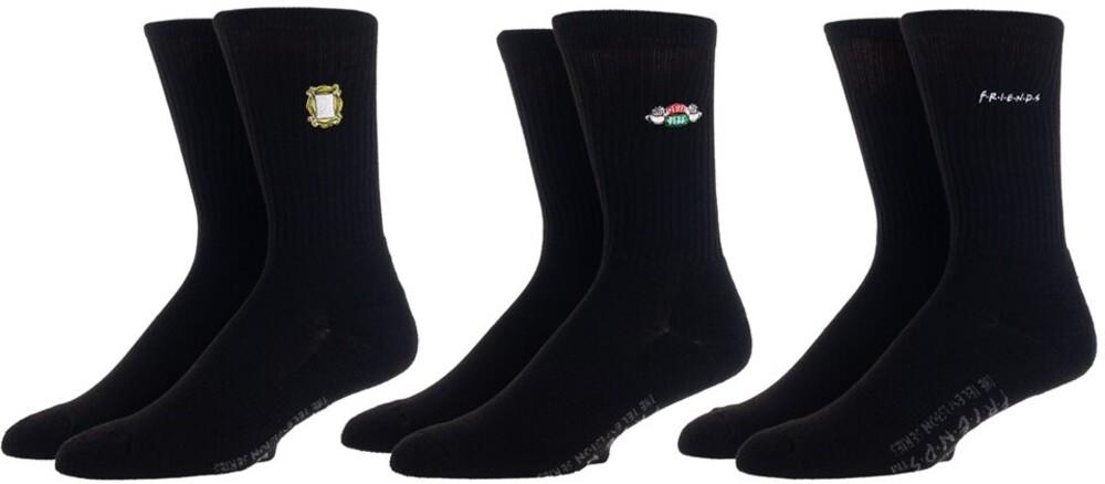 Friends 3 Pair Pk Crew Socks Men's Shoe Size 8-12 - Friends 3 Pair 3 Pack Crew Socks Men's Shoe Size 8-12