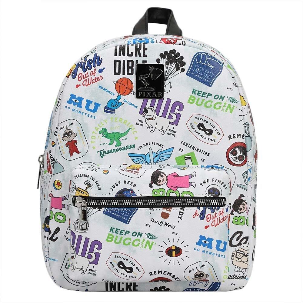 - Pixar Icon Toss Aop Print Mini Backpack (Back)