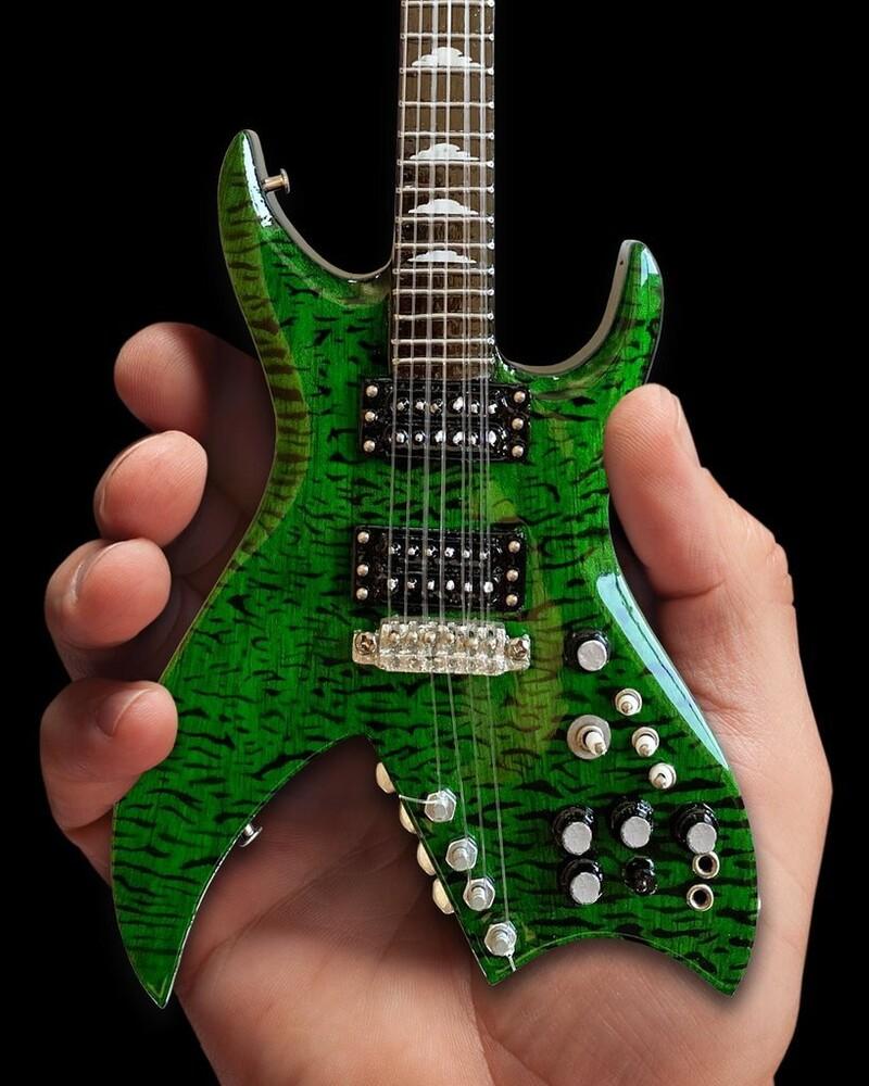Slash Guns N Roses BC Rich Green Bitch Mini Guitar - Slash Guns N Roses Bc Rich Green Bitch Mini Guitar