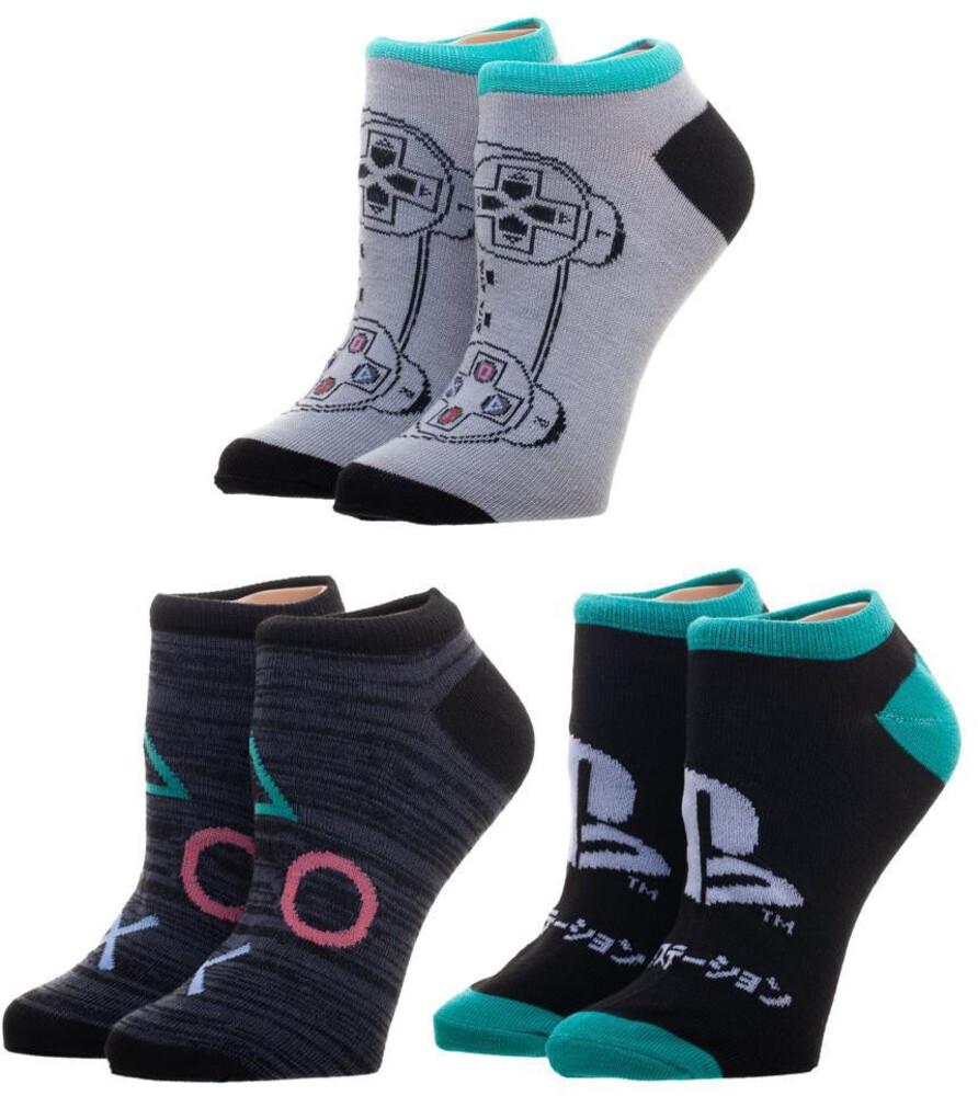 Sony Playstation 3 Pair Ankle Socks 8-12 - Sony Playstation 3 Pair Ankle Socks 8-12 (Mult)
