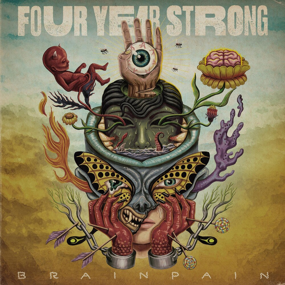 Four Year Strong - Brain Pain [Indie Exclusive Limited Edition Blue/Bone/Yellow LP]