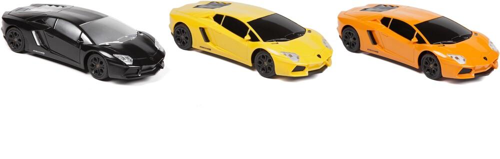 Rc Vehicles - 1:24 Lamborghini Aventador RC Car (One random color per transaction. Colors yellow, black or orange.)